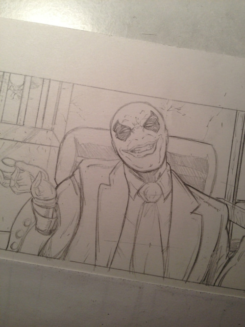 Don't trust that smile. Oxy's up to no good. pencils by Tyler James