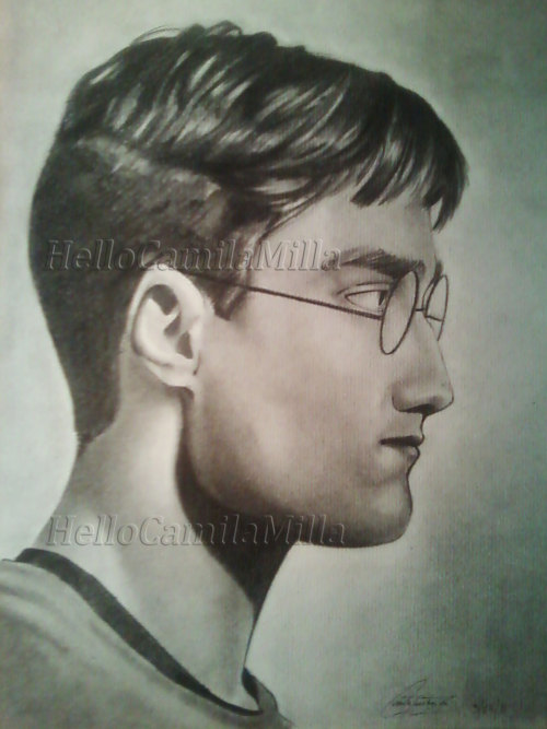 Harry Potter. I decided to do a portrait a while back, it took me about four days.
