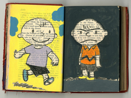 heyoscarwilde:  Good 'ol Charlie Brown … how I hate him! illustration by Melissa Mendes :: via mezilla