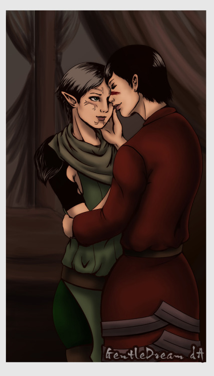 fyeahmerrill:  (via Hawke x Merrill by ~GentleDream on deviantART)