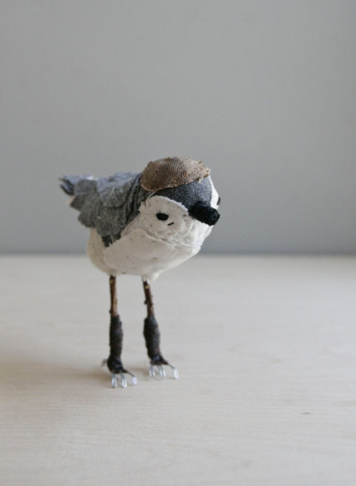 little bird / soft sculpture animal by ohalbatross on Etsy