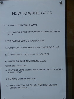 HAHA, I learned to write really good.