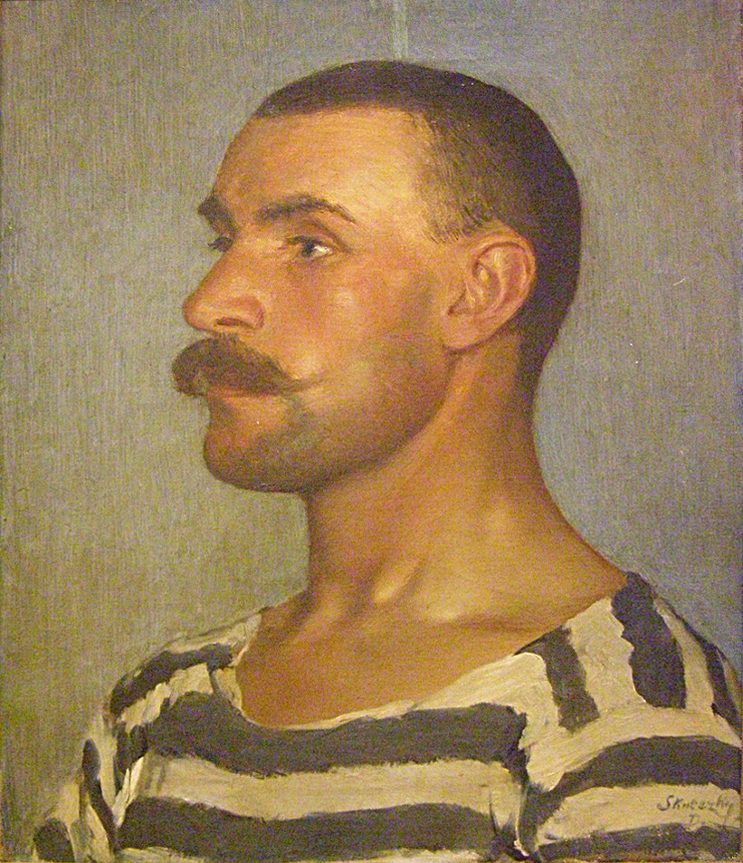 Study of a Shipyard Worker (Head of Gondolier), 1903 by Dominik Skutecky via Distractico Infinita