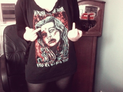 Turned Kieran's BMTH shirt into my new dress, winning! ^.^  #dress #shirt #bmth #boyfriends
