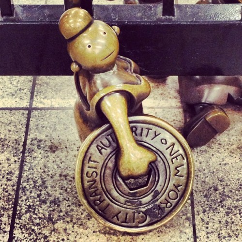 Love me some Tom Otterness. #14thstreet #art #nyc