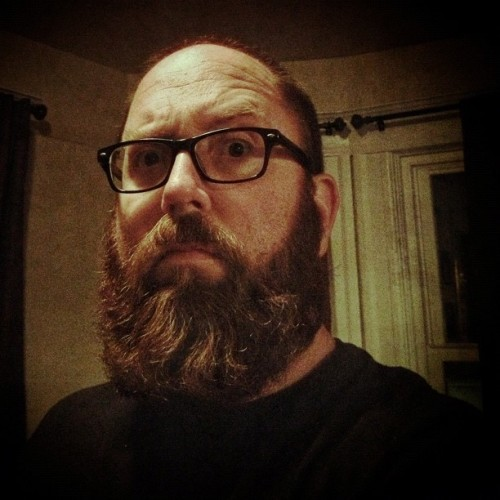 raiderrex:  This is my happy face. #me #beard #beards #gingerbeard #bigbeard #redbeard (at Casa De Stoner's)