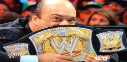pinfallmagazine:  Heyman's face hiding behind the title = best part of RAW.