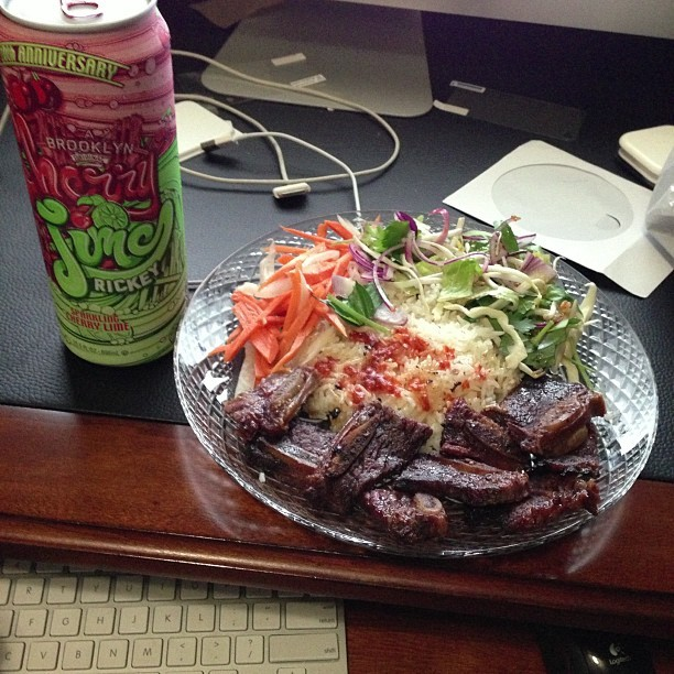 Lets call it a night. #foodporn #riceplate #shortribs #drink #arizona