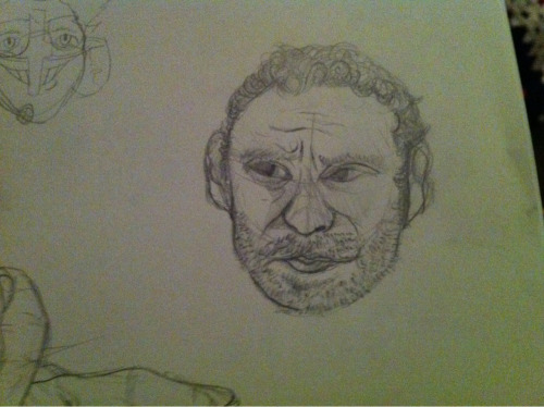 i tried to draw Rick from the Walking Dead  tried