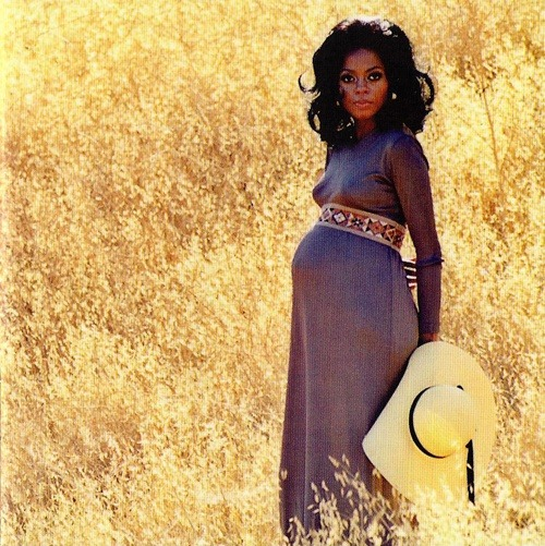Diana Ross, pregnant with her daughter Tracee Ellis Ross, in 1972.