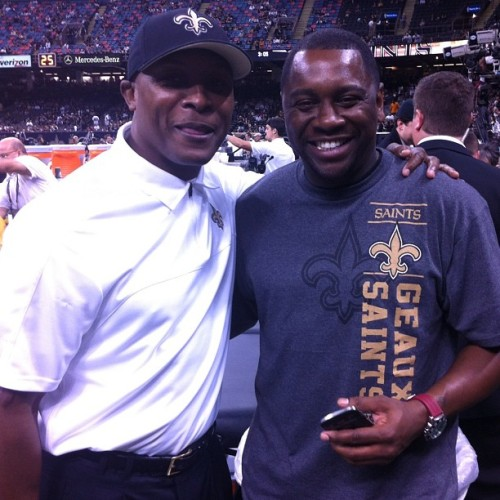 #goodtimes #nfl #neworleans #saints #superdome #stillthesameoldriders  Fast Freddy!! #nola  (at Mercedes Benz Superdome)