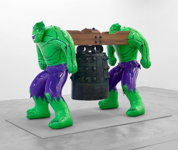 iheartmyart:  Jeff Koons, Hulks (Bell), 2004-2012 polychromed bronze, bronze, wood, 157,48 x 119,38 x 208,28 cm, courtesy of the Almine Rech Gallery Exhibition at Almine Rech Gallery, October 10 - November 15, 2012