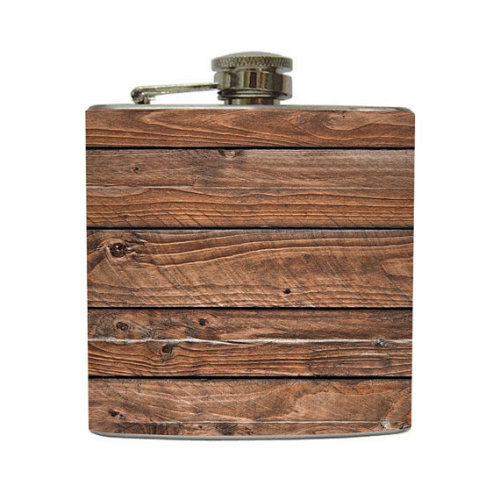 Barn Wood 6oz Whiskey Flask