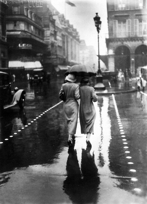 paris under the rain, august 25, 1934 photo by gamma-keystone/ getty images