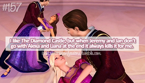 barbiemovieconfessions:  #157: I like The Diamond Castle, but when Jeremy and Ian don't go with Alexa and Liana at the end it always kills it for me.