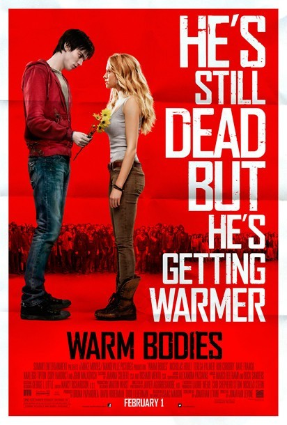 Warm Bodies (2013)  After a zombie becomes involved with the girlfriend of one of his victims, their romance sets in motion a sequence of events that might transform the entire lifeless world.  Cast: Nicholas Hoult, Dave Franco, Teresa Palmer, Analeigh Tipton Follow this blog for the neverending list of all the teen movies ever made!