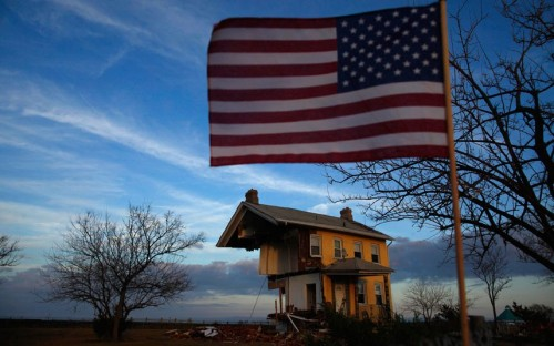 A home damaged by Superstorm Sandy is seen in Union Beach, New Jersey.  (Photo: Eric Thayer / Reuters via The Telegraph)