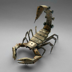 laughingsquid:  A Mechanical Scorpion Made Using Watch Parts