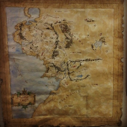 Nbd… This bitch just did a map of middle earth.