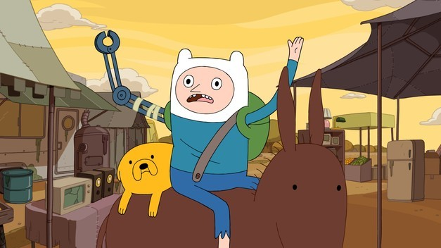 Adventure Time - Finn The Human, Jake The Dog An epic two-part story continuing from the last episode, where our heroes were pushed into an alternate dimension. It turns out to be a weird wish room, with a shadow guy granting wishes. Finn wishes that the Lich never existed, and propels himself into a weird reality, where ice king died and Marceline is an old lady, not to mention his pointy nose. Things don't go so well for them, so we step into our next episode, which involves Jake befriending this shadow guy, who eventually tells him the right wish to make, and the day is saved! Crazy episode, but kinda awesome. I think they really are putting a lot of thought into this world now, and it has spawned some cool episodes lately.