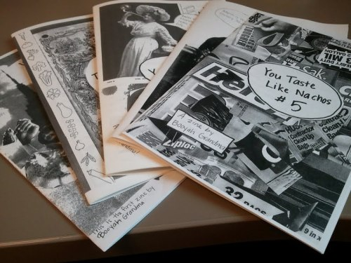 "youtastelikenachos:  You guys! I'm giving away my zines! And by ""giving away,"" I mean ""Could you please donate to this really great cause and then I will make you a copy of every single issue of my zine and mail it to you for free in a special package?"" Kate did a really excellent post on what EveryLibrary is and why it needs our help. To cajole you into donating, I'm giving you my zines. These first five issues consist of the following: Issue 1: This was my very first zine and it's about moving to New York City at the age of 21 fresh out of a long term relationship and how I made out with every person in sight. Issue 2: This one is about produce. Mostly vegetables but I think there's some fruit in there. Issue 3: This one is about the summer I spent interning at the American Library in Paris followed by a brief stint on a farm. Issue 4: I made this issue for Women's History Month. Includes Hellen Keller fanfic. Issue 5: This issue documents the time I got bed bugs. Not for the faint of heart. TO RECEIVE A ZINE, use this link to donate to EveryLibrary. Amount does not matter! Then go here and enter your name and address. Then I send you your zine! That's it! You've donated to a great cause and you're getting some zines mailed personally from me to you. Sometimes I draw weird things on the envelopes too.  Donate! Donate! Donate!"
