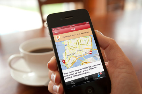 GrubHub Track Your Grub offers SMS updates and complete food delivery tracking