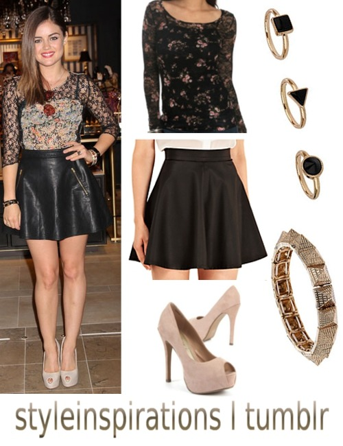 top -wet seal (alternative) skirt - john lewis heels - new look ring set - topshop bracelet - topshop
