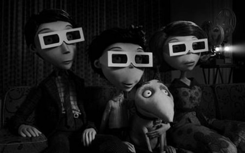 Frankenweenie // Tim Burton // 2012 Sparky is completely in love with cinema.