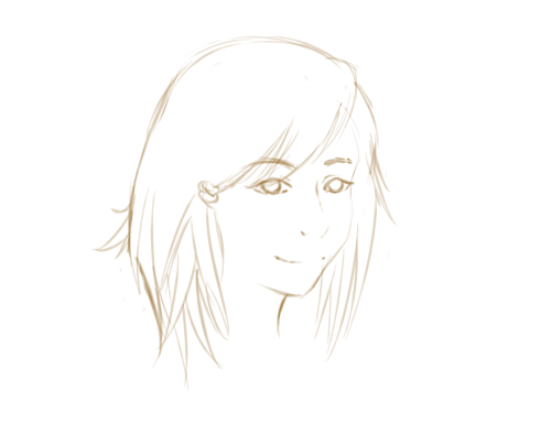 Just some quick 1min-sketch of my new hairstyle. I think it looks soooo cute omg I love it (doesn't suit me //CRAI jk jk it looks quite okay.)