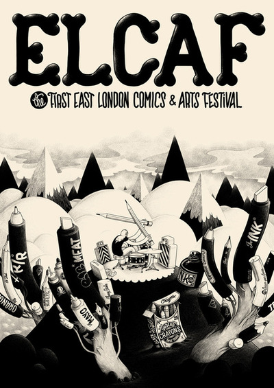 ELCAF is officially cemented in the social calendar, everyone keep the 17th of June free it is going to be a comics and arts festival like no other, trust us! With McBess as the artist in residence; live drawing relay races from Luke Pearson, Jack Teagle, Kyle Platts, and many more; a process talk by the unbelievable award winning talent that is BLEXBOLEX, chaired by the man at the crossroads himself Paul Gravett; 600 second interviews from Avoid the Future; a kids workshop organised by Anorak Magazine; Screenings by Nexus; panel discussions with Karrie Fransman, Darryl Cunningham and Simone Lia; stalls from the very best comics publishers, including Jonathan Cape, SelfMadeHero, Blank Slate, Nobrow (of course!), Knockabout, Landfill Editions, Solopsistic Pop, WAWAP, the list goes on…; AND!!! a ticketed concert featuring the Dead Pirates, the Vuvuvultures and a special guest running from 8 'til late, there is honestly nothing to top it! We are working hard to put an official program online next week, but in the mean time spread the word, make sure you and everyone you know comes! This is the start of something beautiful, don't miss it!!!!!!!! June 17th at the Village Underground please RSVP here for a chance to win a Nobrow goodie basket, winner will be announced at ELCAF on the day! (via Browsing for Event)