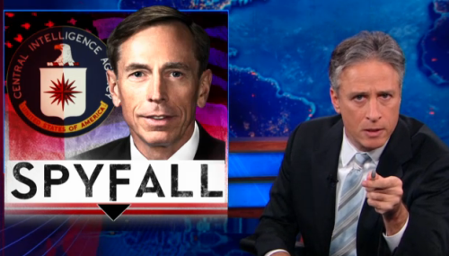 Full Episode: General Petraeus resigns as head of the CIA. Jon talks with Mike Huckabee. http://on.cc.com/TXT9Ve