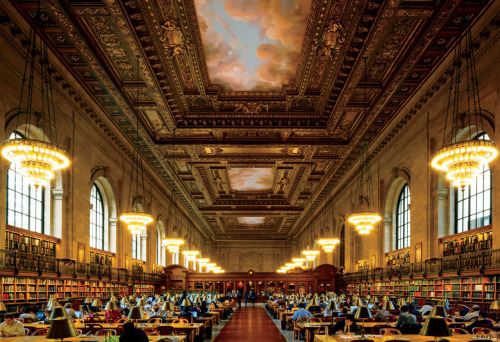 Firestorm on Fifth Ave | The Rose Main Reading Room at the New York Public Library Photograph by Todd Eberle