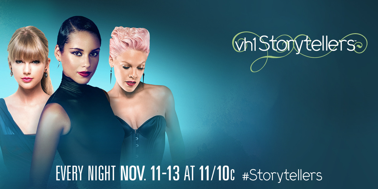 Tonight is the last night of our three days of Storytellers.  Don't miss P!nk at 11/10c tonight on VH1!