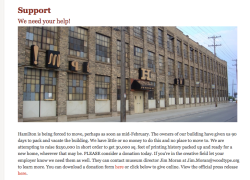 Our friends at Hamilton Wood Type Museum need help!
