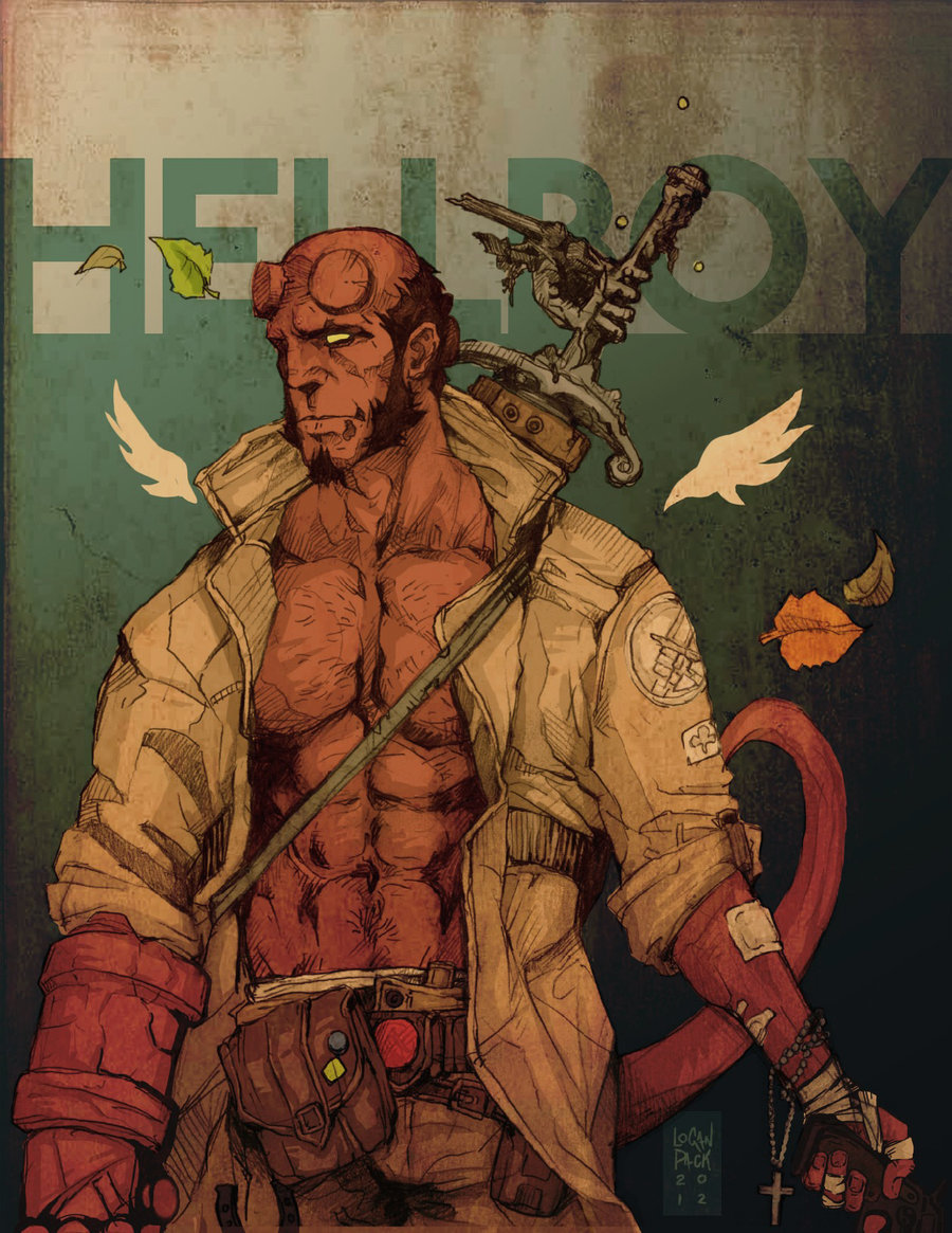Hellboy by Logan Pack Artist website / facebook / tumblr