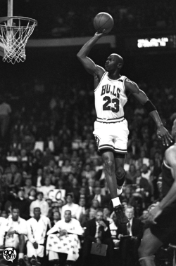 """Who say men are not meant to fly?"" Michael Jordan"