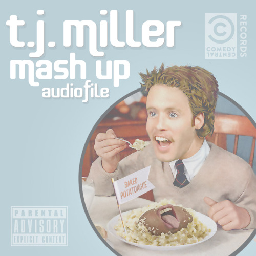 comedycentral:  Now available from Comedy Central Records, it's Mash Up Audiofile, a digital album companion to Mash Up featuring stand-up by T.J. Miller and bonus/music comedy mashups. Click the image to buy it from iTunes and don't miss an all-new Mash Up tonight at 12:30a/11:30c.