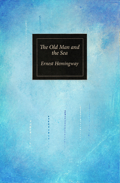 This is a book cover I have designed for Ernest Hemingway's The Old Man and the Sea focusing on my use of colour and mark making.