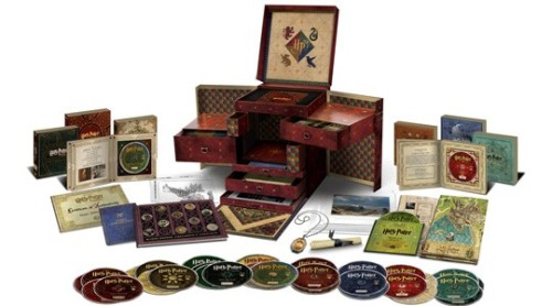 "Harry Potter Wizard's Collection If you've been holding off for just the right DVD box set to place alongside your Harry Potter hardcovers, your wait is finally over. This mammoth 31-disc collection includes all eight Harry Potter movies (along with all the special features available on previous editions, plus a bonus disc with new extras) and such collectibles as a cloth map of Hogwarts and a Horcrux locket. (What, no invisibility cloak?) It'll have all the wanna-be wizards in your household shouting ""Expecto Patronum!""Price: $499.99 Read more: Holiday Gift Guide 2012: Best Movies on DVD and Blu-ray"