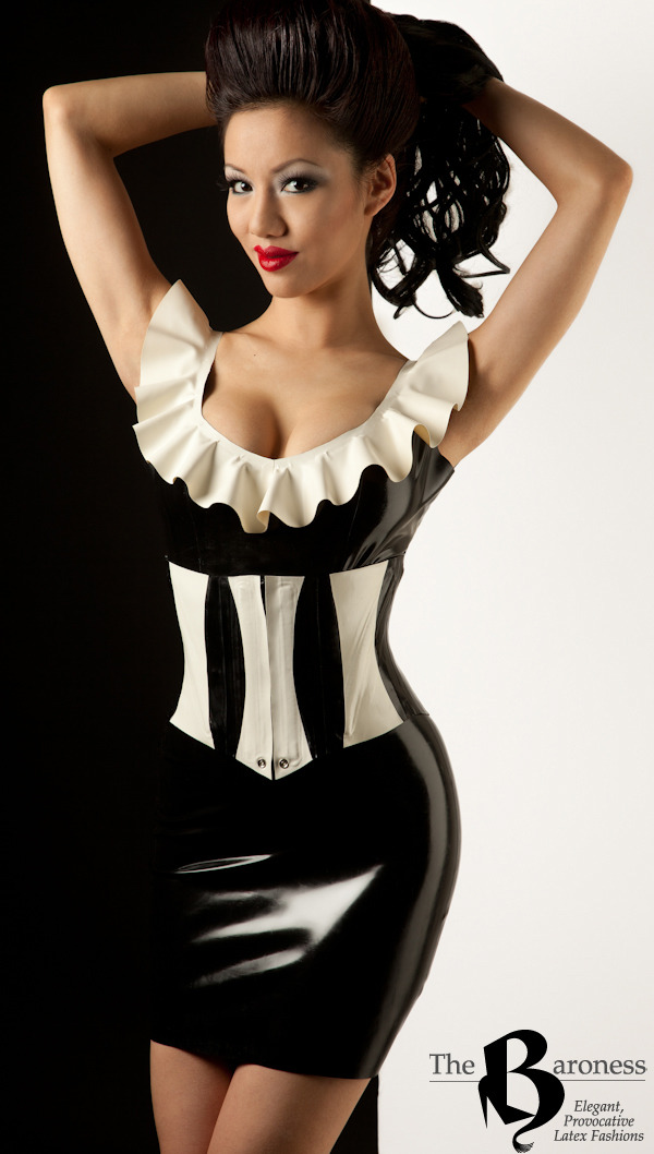 Classic black and white latex from a catalog shoot I did for The Baroness last year. Her NY shop was in the evacuation zone for Hurricane Sandy and was flooded. She is currently offering 20% off of all in-stock garments to help her recovery. www.baroness.com or visit her shop! Model: Jade Vixen Latex: The Baroness