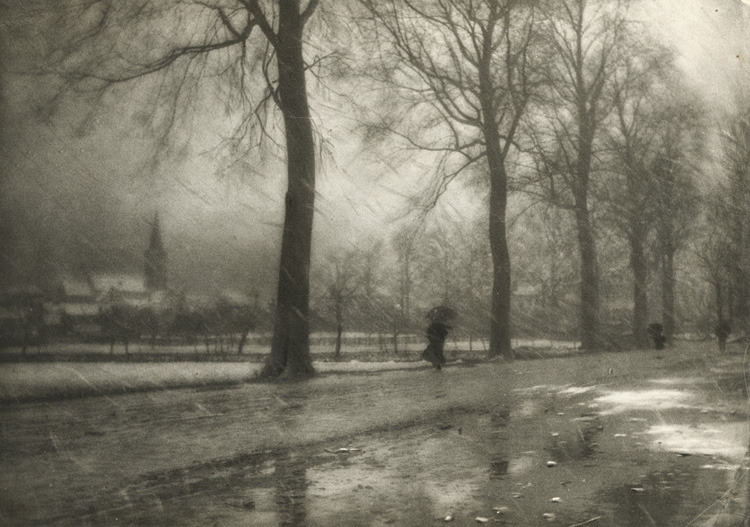 adanvc:  Bad Weather, 1909. by Leonard Misonne
