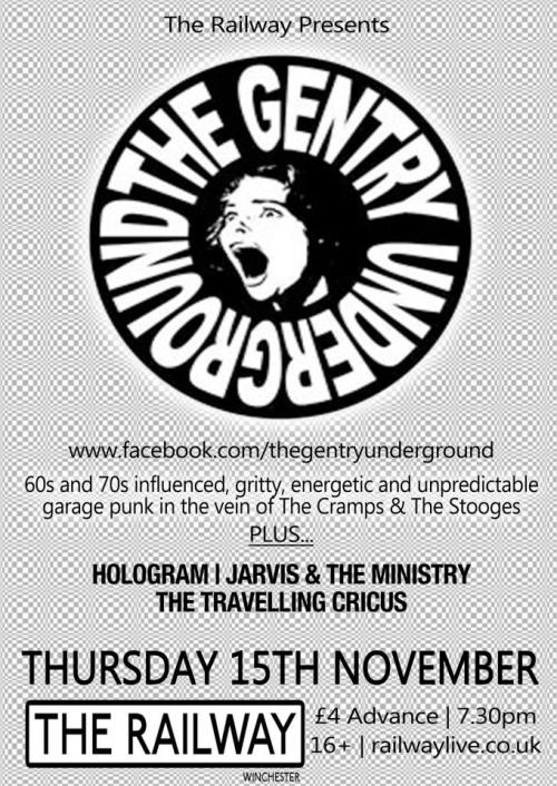 This Thursday in Winchester come down please it will be 'great'