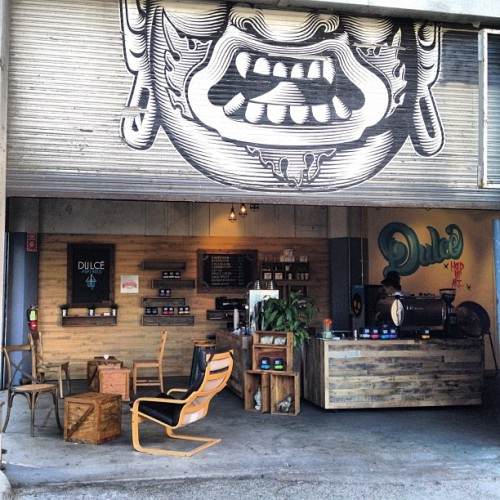 Found my new favorite coffee spot in LA! @CafeDulcePOP #coffee #skatelife #hyped