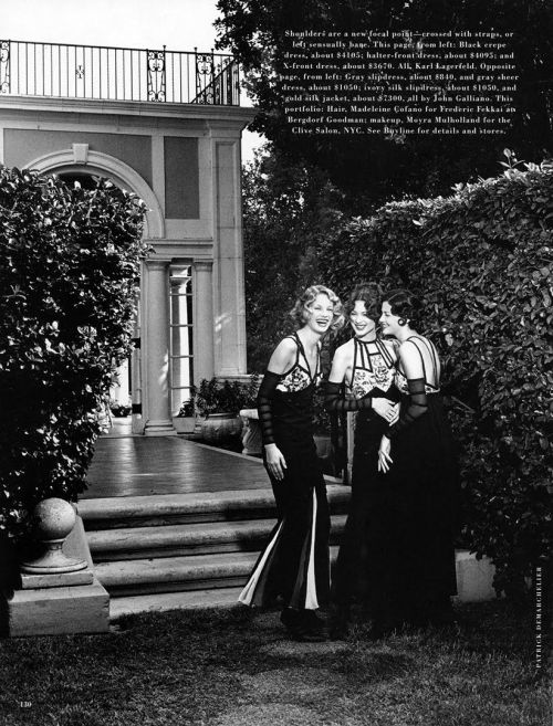 'Garden Party' from…….Harper's Bazaar February 1992