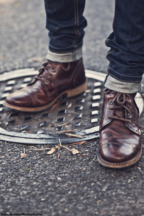 Fall Style Tips for Men: Boots and skinny jeans… One of my personal style favorites this fall. Been doing some price comparison and most seem to be semi affordable. However, its a good investment regardless because boots are good for all seasons.  Personally I would suggest a more vintage cut, but if you are looking for a more modern european style then those are easy to find as well.  Take Care,  -Cam