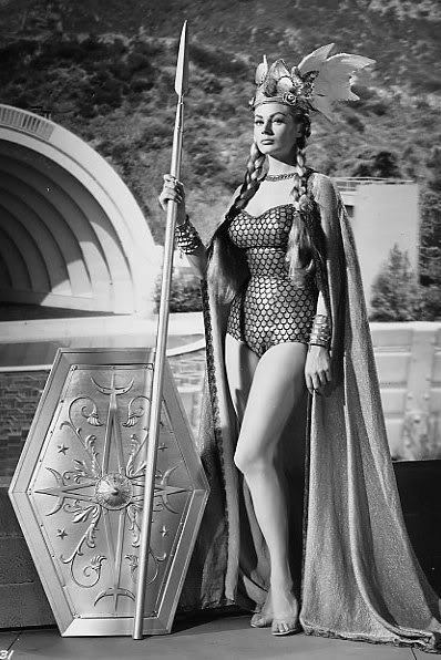 tremblingcolors:  Anita Ekberg as a valkyrie