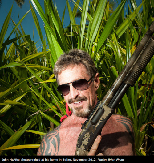 "As Belizean police combed the property of expat antivirus pioneer John McAfee Sunday afternoon, McAfee was closer than they could have known. He'd seen them coming, and says he hid — burying himself in the sand with a cardboard box over his head so he could breathe. ""It was extraordinarily uncomfortable,"" he says, in an exclusive interview with Wired. ""But they will kill me if they find me."""