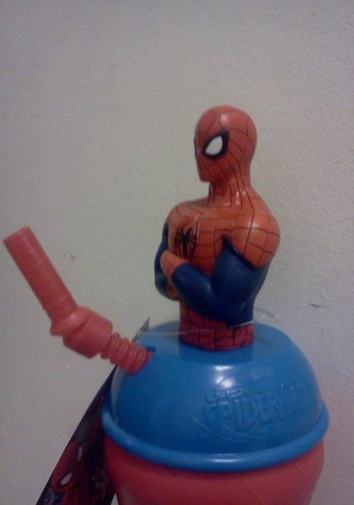 Spiderman Cup Has Penis My Spidey Straw is tingling.