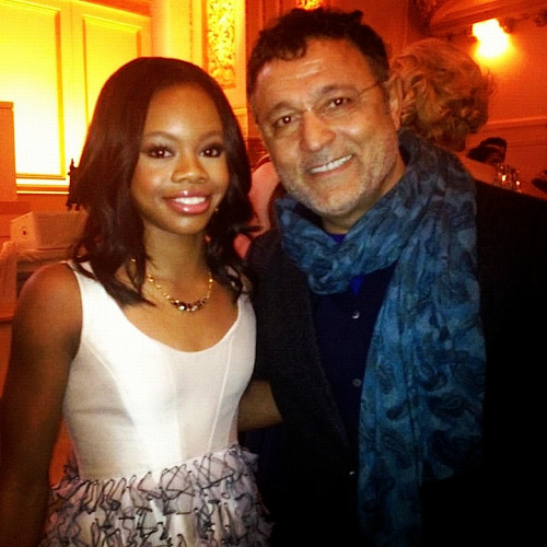 Elie with Olympic Gold Medalist Gabby Douglas last night at the Glamour Women of the Year Awards.