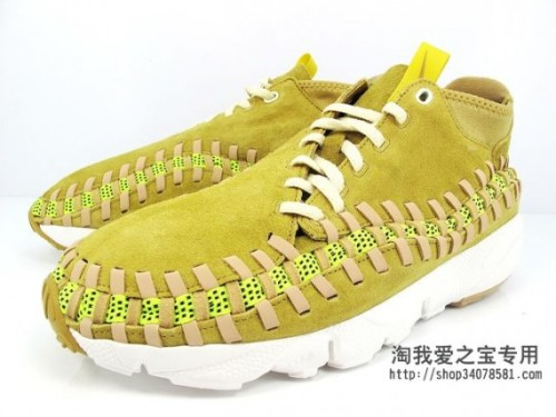 Nike Footscape Woven Chukka - Yellow Suede Gum back again with another bright colourway.  always interesting to see Woven Chukkas, bright yellow uppers on a gum sole can't go wrong. click here for more pics Related articles atmos x Nike Air Footscape Woven Chukka (sneakerfiles.com)